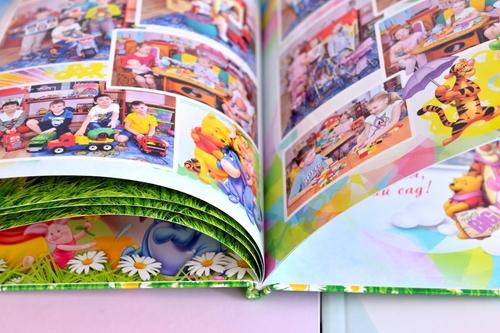 твердая обложка выпускного альбома с полиграфической печатью для детского сада